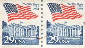 Das Briefmarke- Weiße Haus 1992 29 Cent USA-erster Klasse Stockfotografie