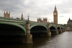 Das britische Parlaments-Gebäude und das Big Ben Stockfotografie