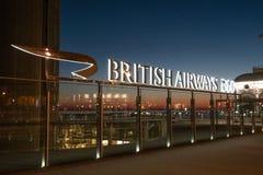 Das British Airways 360i in Brighton Beach - BRIGHTON, VEREINIGTES KÖNIGREICH - 27. FEBRUAR 2019 lizenzfreies stockfoto