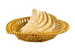 Das Brot auf der Platte Stockfotografie