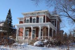 Das Brower-Haus im Schnee Stockfotografie