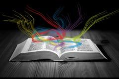 Das Buch von Magie Stockbild