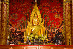 Das Buddha-Bild von Sakon Nakhon Wat Phra That Choom Chum Lizenzfreie Stockbilder