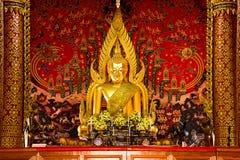 Das Buddha-Bild von Sakon Nakhon Wat Phra That Choom Chum Stockbild