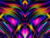 Das bunte Glühen zeichnet Wellen lizenzfreie abbildung