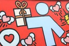 Das bunte graffitti auf der Wand des Tunnels Lizenzfreies Stockbild