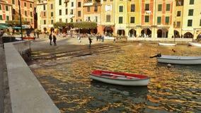 Das bunte Portofino, Ligurien, Italien stockbilder
