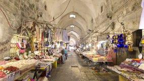 Das bunte souk in der alten Stadt von timelapse Jerusalems Israel hyperlapse stock video