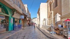 Das bunte souk in der alten Stadt von timelapse Jerusalems Israel hyperlapse stock footage