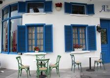 Das Café des Blaus Lizenzfreie Stockfotografie