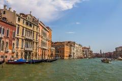 Das Canal Grande in Venedig Italien Lizenzfreie Stockfotos