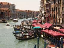 Das Canal Grande von Venedig Italien Lizenzfreies Stockfoto