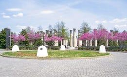 Das Carilon am Jahrhundert-Park Stockbilder