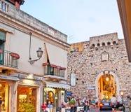 Das Catania-Tor in Taormina Lizenzfreie Stockfotografie