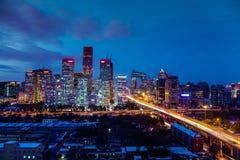 Das CBD von Peking Stockbild