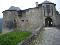Das Chateau von Mauleon lizenzfreie stockfotos