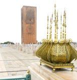 das chellah in Marokko Afrika altes römisches verschlechtertes MO stockfoto