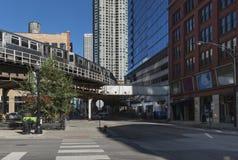 Das Chicago L Zug Stockfotos