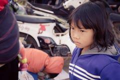 Das children's Gesicht stockfotografie