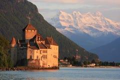 Das Chillon Schloss in Montreux (Vaud), die Schweiz Lizenzfreies Stockbild