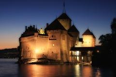 Das Chillon Schloss in Montreux (Vaud), die Schweiz Lizenzfreie Stockfotos