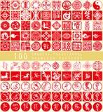 Das chinesische Element des neuen Jahres Stockbild