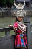 Das chinesische miao Mädchen Lizenzfreies Stockbild