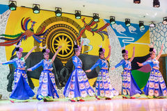 Das chinesische miao Tanzen Lizenzfreies Stockfoto