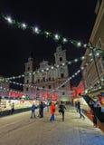 Das ` Christkindlmarkt `` in Salzburg Lizenzfreies Stockbild