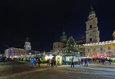 Das ` Christkindlmarkt `` in Salzburg Lizenzfreie Stockfotografie