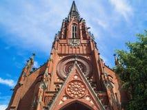 Das Christuskirche in Hannover Ansicht von unten stockfotografie