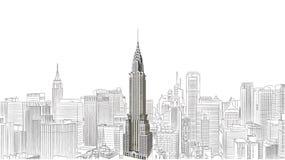 Das Chrysler-Gebäude lizenzfreie abbildung