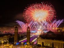 Das ciity von Barcelona stockfotos