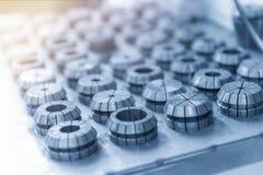 Das CNC-Teil, Ersatzteile des Metallrings lizenzfreie stockfotos