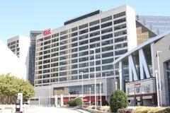 Das CNN-Gebäude in im Stadtzentrum gelegenem Atlanta, Georgia stockfoto