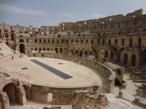 Das Colosseum in der Stadt von EL Djem Stockfotos