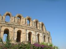 Das Colosseum in der Stadt von EL Djem Lizenzfreies Stockbild
