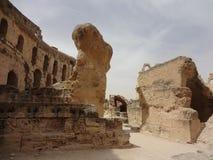 Das Colosseum in der Stadt von EL Djem Lizenzfreie Stockfotografie