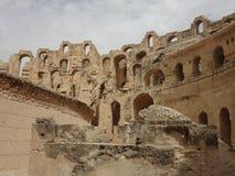 Das Colosseum in der Stadt von EL Djem Lizenzfreie Stockbilder