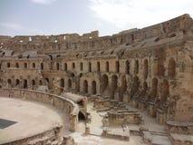 Das Colosseum in der Stadt von EL Djem Lizenzfreie Stockfotos
