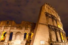 Das Colosseum nachts, Rom, Italien Lizenzfreie Stockfotografie
