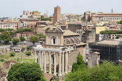 Das Colosseum und das Forum Lizenzfreie Stockbilder