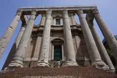 Das Colosseum und das Forum Stockfotos