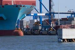 Das Containerterminal Lizenzfreie Stockfotos