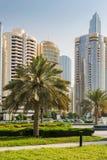Das Cornich in Abu Dhabi Lizenzfreies Stockfoto