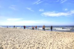 Das Curonian Spucken Küste der Ostsee Stockfotografie