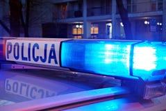 Das Dach-angebrachte lightbar des Polizeiwagens Stockfotos