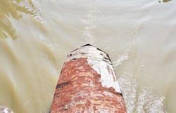 Das Dach des alten Schiffs, das auf den Fluss segelte lizenzfreie stockfotografie