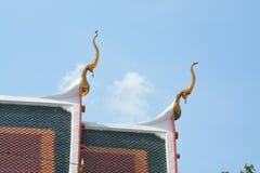 Das Dach des Tempels Stockfotografie
