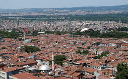 Das Dach von Bursa. Stockfoto